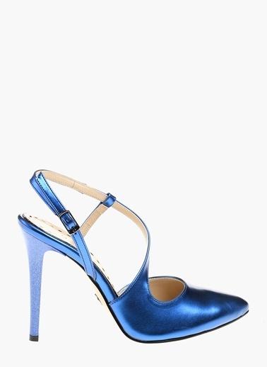 Divarese İnce Topuklu Ayakkabı Saks